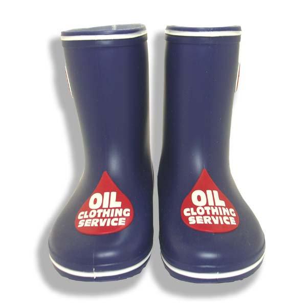 OIL CLOTHING SERVICEオイルクロージング1331017 OILマークのレインブーツパープル