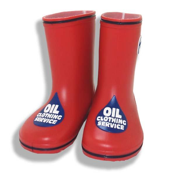 OIL CLOTHING SERVICEオイルクロージング1331017 OILマークのレインブーツレッド
