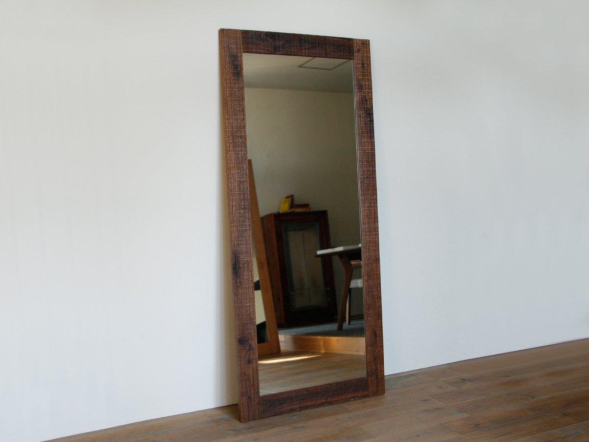 OUTLET QUATTRO Stand Mirror 182 walnut