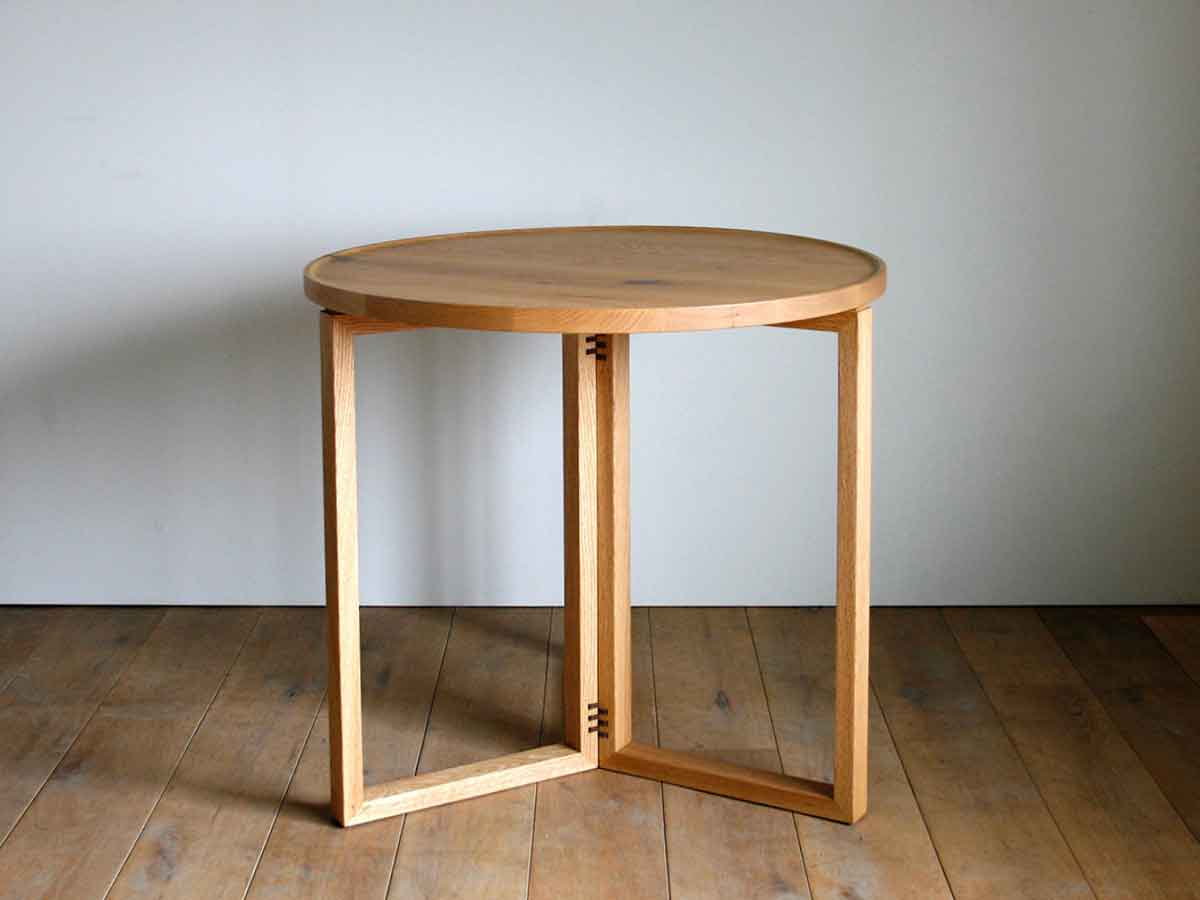 OUTLET SPAGO Circle Table 070 High oak