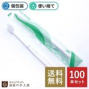 【送料無料】使い捨てハブラシ(液体ハミガキ付) 100本入