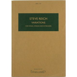 Steve Reich: Variations for Winds, Strings and Keyboards スティーヴ・ライヒ:ヴァリエーションズ