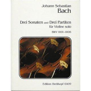 Johann Sebastian Bach: 3 Sonaten und 3 Partiten BWV 1001-1006