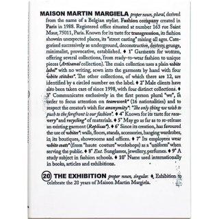 <img class='new_mark_img1' src='https://img.shop-pro.jp/img/new/icons58.gif' style='border:none;display:inline;margin:0px;padding:0px;width:auto;' />Maison Martin Margiela: 20 Years The Exhibition マルタン・マルジェラ