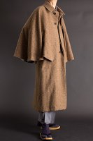 とんびコート メルトンウール ブラウン 125