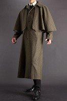 とんびコート メルトンウール オリーブ 125