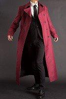 赤いロングコート