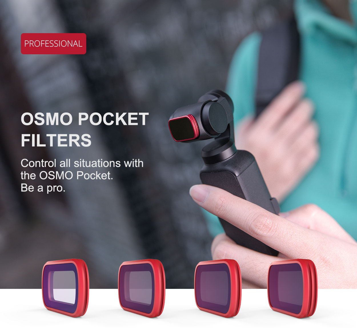 PGY OSMO Pocket用 レンズフィルター(PRO) [UV/ ND/ CPL/ セット各種]