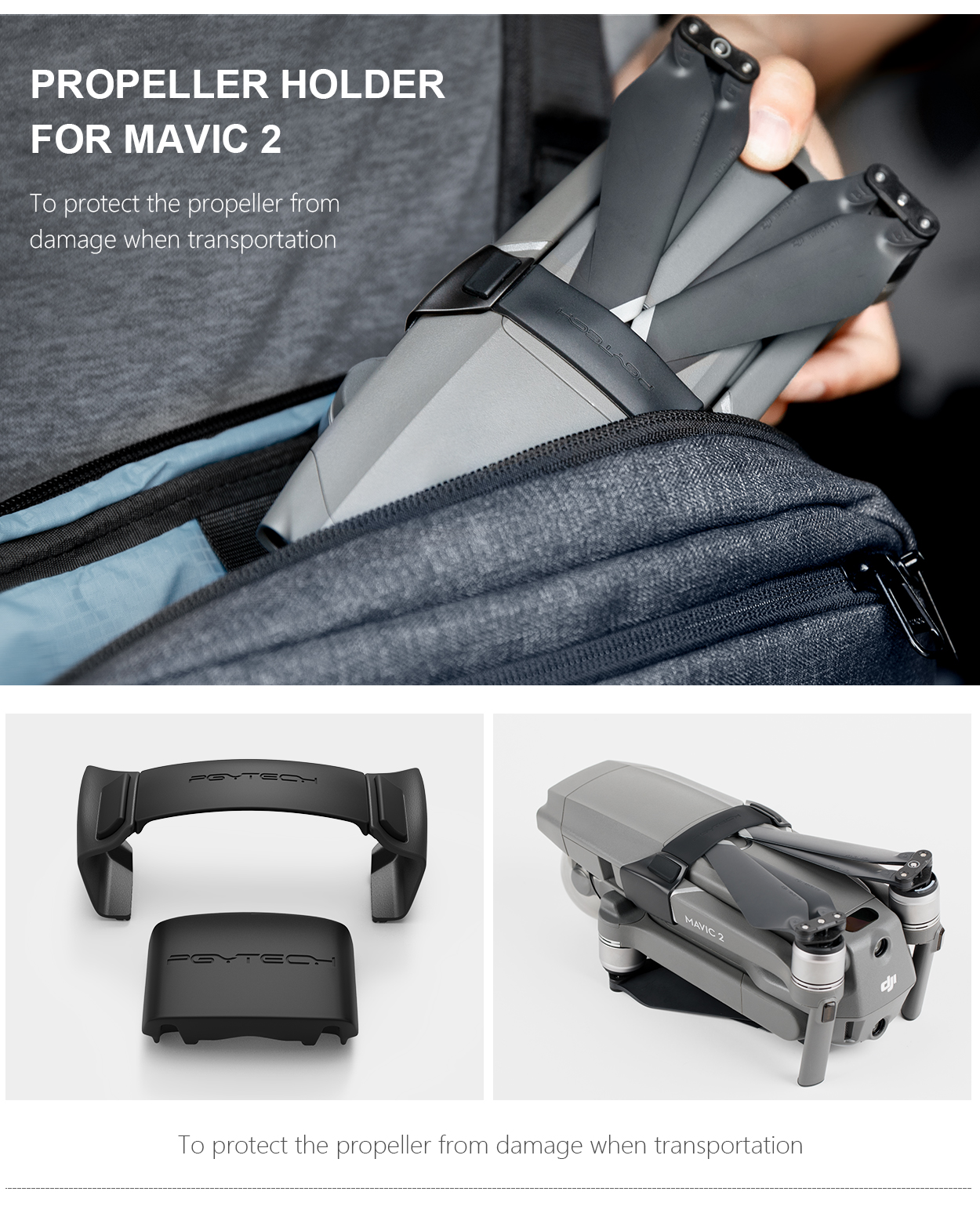PROPELLER HOLDER FOR MAVIC 2 - To protect the propeller from damage when transportation.