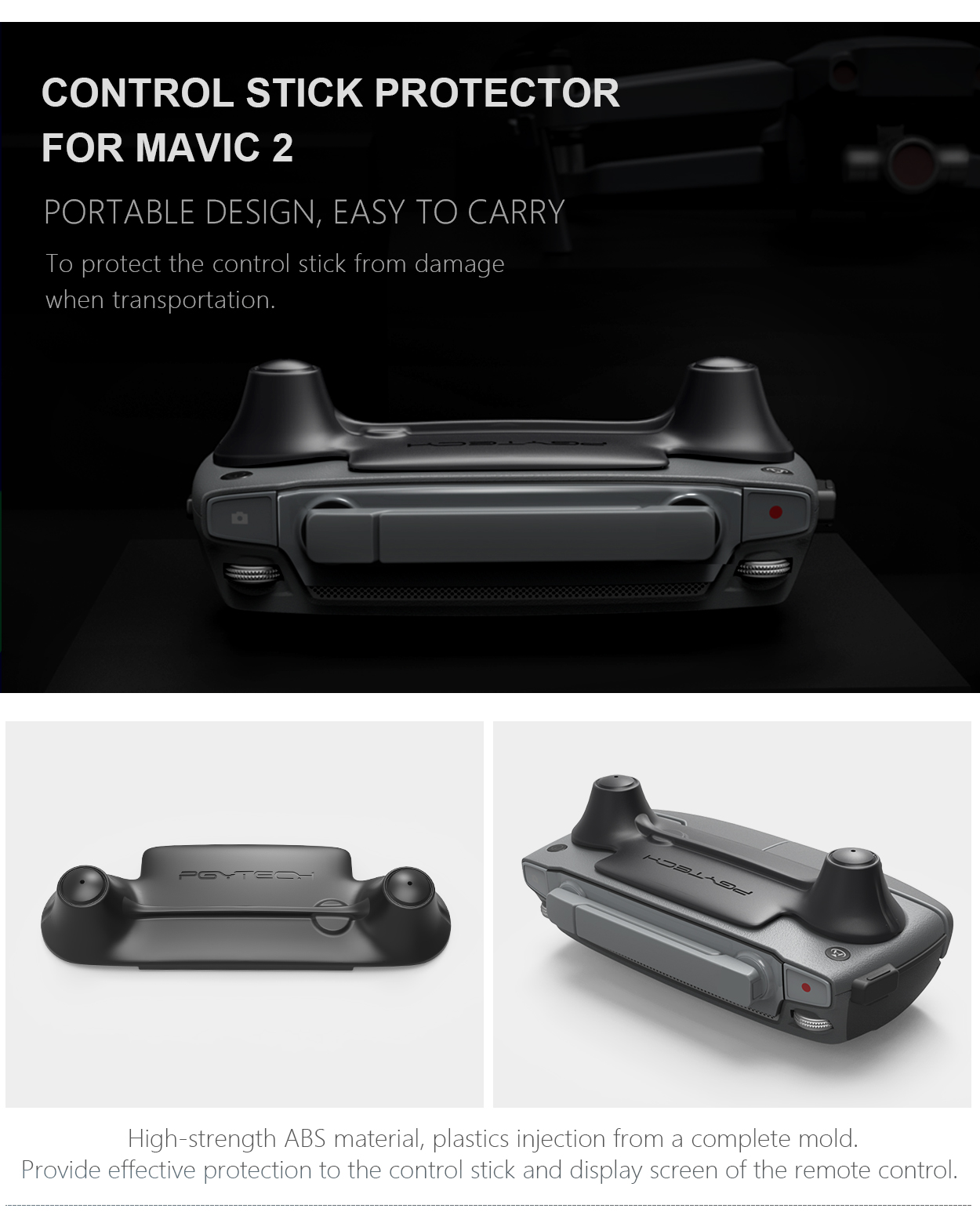 CONTROL STICK PROTECTOR FOR MAVIC 2 - To protect the control stick from damage when transportation.