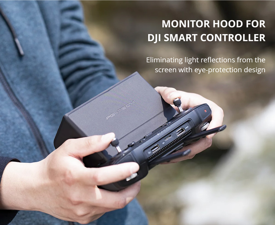 MONITOR HOOD FOR DJI SMART CONTROLLER - Eliminating light reflections from the screen with eye-protection design