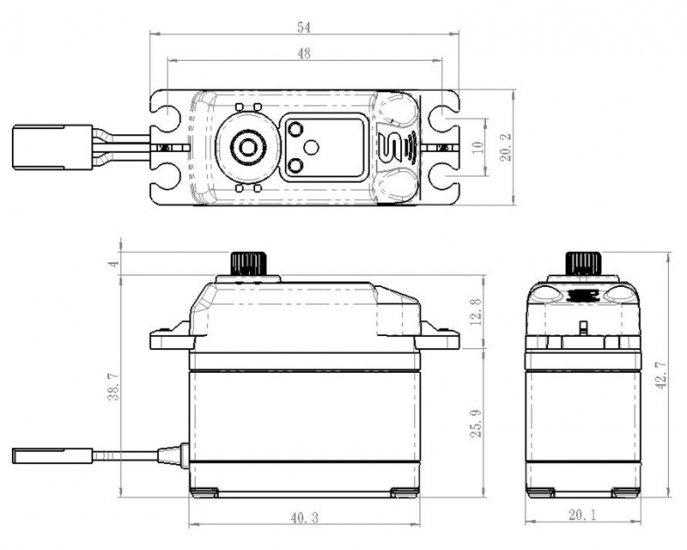 Savox SB-2272MG Servo Gehäuse