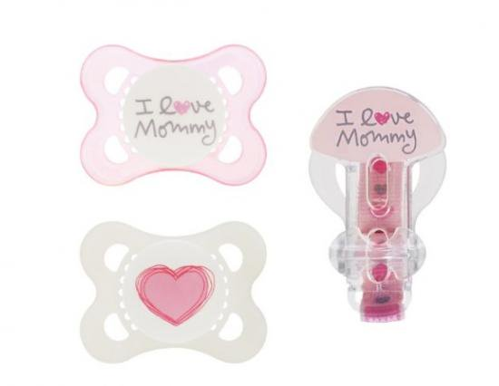 【MAM】I LOVE MAMMY シリコンおしゃぶり&クリップセット