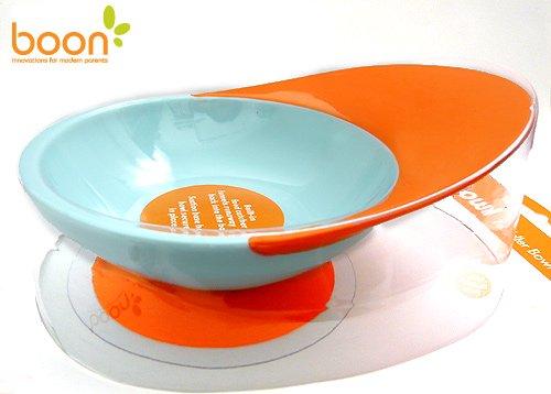【Boon】ブーン*Catch Bowl*トドラーボウル&スピルキャッチャー(オレンジ)