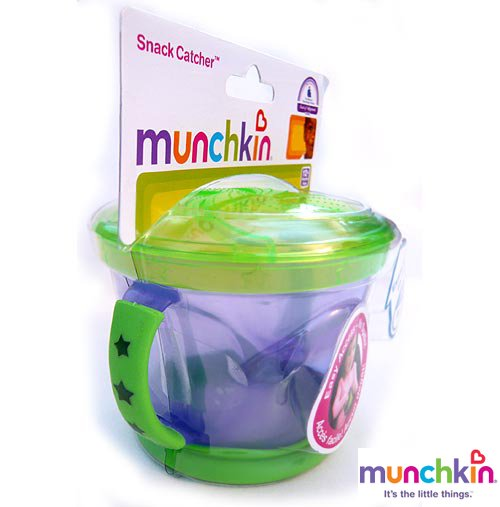 【munchkin】Snack Cather*スナックキャッチャー(ライトパープル&グリーン)