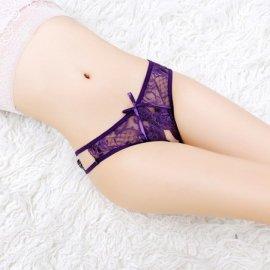 パックリオープン♪ レースTバック 紫