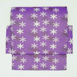 二部式帯 西陣織 雪文様 紫