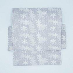 二部式帯 西陣織 雪文様 銀