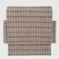 手紬手織草木染 2部式 マルチチェック