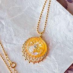 太陽と月のネックレス イエロー * ragazza gemelli