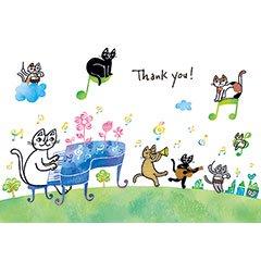 ポストカード【ありがとう!いつも思っているこの言葉。】* おかべてつろう
