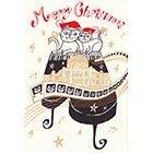 ポストカード【こころきらめく、メリークリスマス!】* おかべてつろう
