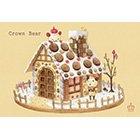 ポストカード【Crown Bear お菓子の家】*Tea Drop