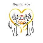 ポストカード【Happy Birthday (ケーキ)】* おかべてつろう