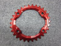 ABSOLUTE BLACK OVAL Shimano M8000 Narrow-Wide Chainring 30T RED
