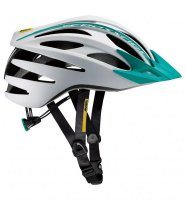 【月末市】MAVIC 16y CROSSRIDE SL ELITE W HELMET MEDIUM WHITE/MOOREA BLUE