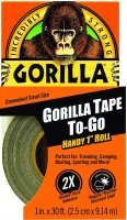 Gorilla Tape To-Go, Black 2.5cm×9.14m