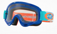 OAKLEY GOGGLE O-Frame® XS MX Goggle (Youth Fit) Treadburn Orage Blue Clear