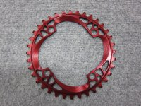 在庫限り ABSOLUTE BLACK CHAINRING 104PCD 36T RED