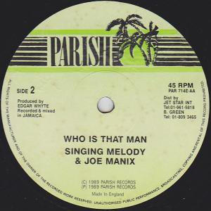 a who is that man singing melody joe manixb been so long