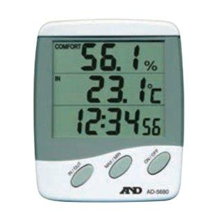 【AD-5680】3ライン温湿度計
