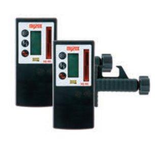 【MJ-RE2/MJ-RC2】レーザー墨出器用 受光器+ロッドクランプ(受光器とクランプのセット)