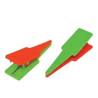 【PK-2】ポイントクリップ(緑×橙 4個入)