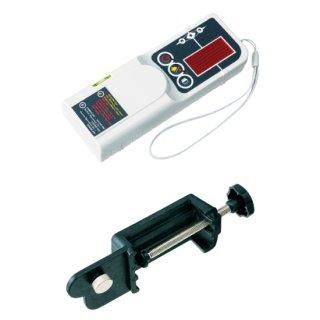 【TL-RE/TL-RC】レーザー墨出器用 受光器+ロッドクランプ(受光器とクランプのセット)