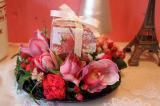 ムレスナティーとお花のアレンジメント