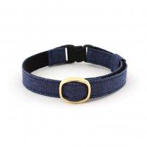 シンプルで高級感のある猫首輪【COLORS 藍色】