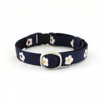 かっこいい梅の花の和風猫首輪【梅 藍】