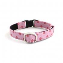 流行りのくすみピンクの水玉猫首輪【P-dot スモーキーピンク】