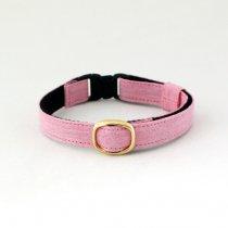 キュートな薄桃ピンクの猫首輪【COLORS 桃】