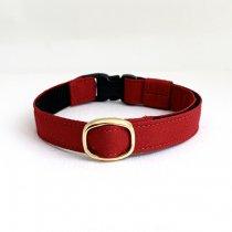 真っ赤なシンプル猫首輪【couleur〔クルール〕 レッド】