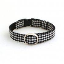 白黒ギンガムチェックの猫首輪【MONO】