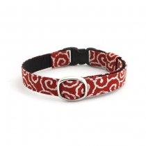 赤い泥棒柄の和風猫首輪【Dorobo 紅】