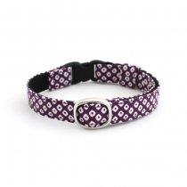 渋かっこいい古典和風な猫首輪【かのこ紫】