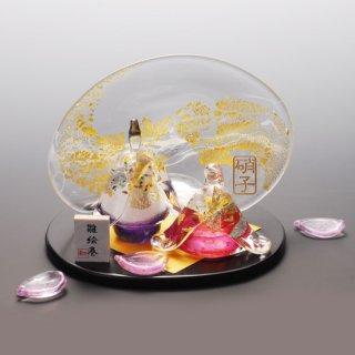 雛絵巻 桜(ガラスのひな人形)【送料無料】