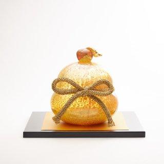 黄金餅 S 金塗台付 / L ひのき台付き (硝子の鏡餅 ガラスの鏡餅)Gold rice cake【送料無料】<img class='new_mark_img2' src='https://img.shop-pro.jp/img/new/icons5.gif' style='border:none;display:inline;margin:0px;padding:0px;width:auto;' />