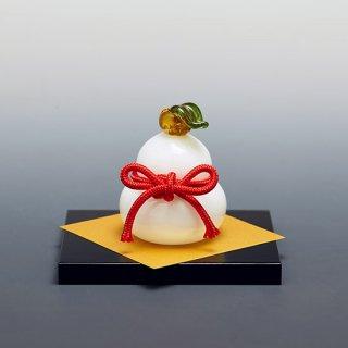 硝子の鏡餅 小 Rice cake<img class='new_mark_img2' src='https://img.shop-pro.jp/img/new/icons5.gif' style='border:none;display:inline;margin:0px;padding:0px;width:auto;' />